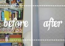 Dollarama Diy Removable Shelf Panels Hide Contents
