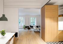 Drab Barcelona Apartment Reborn Illuminated Interior