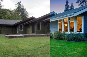 Dramatic Exterior Renovations Before After Modern