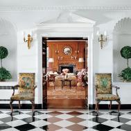 Dreamy Interiors Black White Checkered Floor