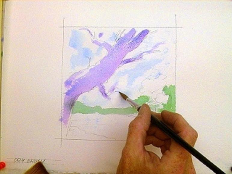 Dry Brush Watercolor Technique Step Pics