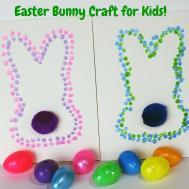Easter Bunny Dot Art Kids Teachable Mommy