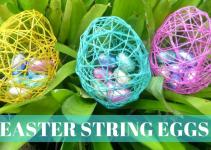 Easter Crafts Diy String Eggs