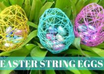 Easter Crafts Diy String Eggs