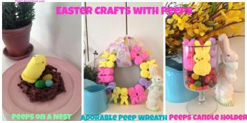 Easter Crafts Peeps Peep Wreath Nest