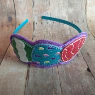 Easter Egg Headband Glitter Vinyl Felt Embroidery