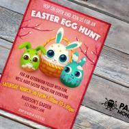 Easter Egg Hunt Invitation Bunny
