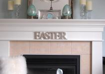 Easter Mantel Ideas Pop Pretty Blog Canadian Home