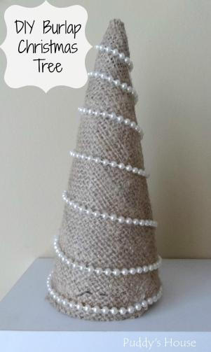 Easy Diy Burlap Christmas Tree Puddy House