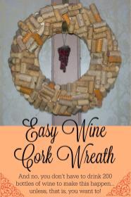 Easy Wine Cork Wreath Mending Piggy Bank