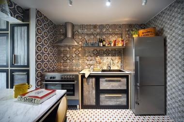 Eclectic Interior Design Bold Patterned Tiles