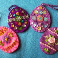 Eglantine Stitchery Easy Fun Embroidered Easter Eggs