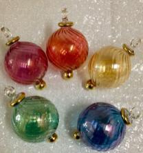Egyptian Glass Ornaments Balls Christmas