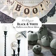 Elegant Black White Halloween Decor Ideas Atkinson