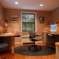 Elegant Decoration Small Office Designs Study