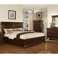 Elements International Bedroom Canton Cherry Storage Bed