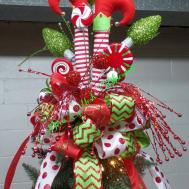 Elf Legs Christmas Tree Topper Ready Ship