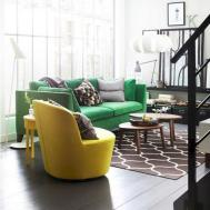 Emerald Green Brown Living Room Decor