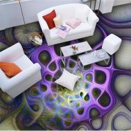 Epoxy Painted Flooring Art Bathroom Floor