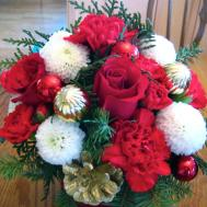 Erica Diy Work Christmas Flower Arrangement