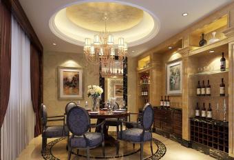 European Interior Design Dining Room Wine Cooler