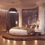 Exciting Bedroom Interior Unique Round Bed Designs