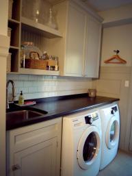 Fab Minimalist White Laundry Room Decorating Designs