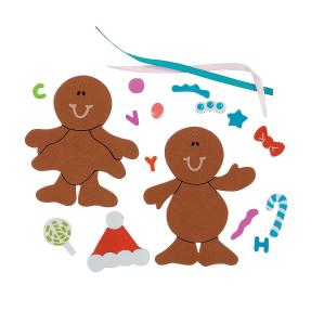 Fabulous Foam Gingerbread Christmas Ornament Craft Kit