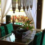 Fabulous Moroccan Dining Room Design Wood Glass