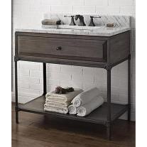 Fairmont Designs Toledo Open Shelf Vanity Driftwood