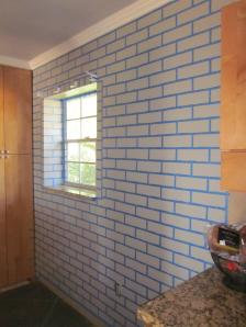 Fake Exposed Brick Wall 8264