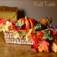 Fall Decor Table Centerpiece Leaves Pumpkins