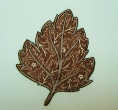 Fall Leaf Embroidered Diy Clothing Applique B
