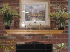 Fall Mantel Decorating Ideas Fireplace Office