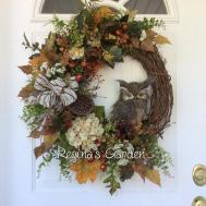 Fall Wreath Owl Autumn Regina Garden