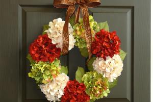 Fall Wreaths Wreath Hydrangea Front Door