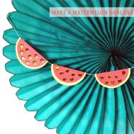 Featured Post Watermelon Garland Diy Kraft Mint