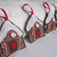 Felt Gingerbread House Ornaments Hmh Designs