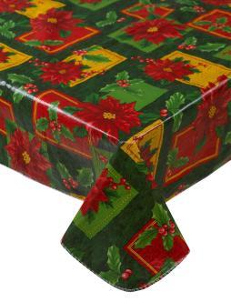 Festive Christmas Tablecloth Pvc Flannel Back Xmas Design