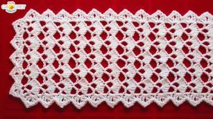 Festive Table Runner Crochet Pattern Looks Fancy Easy
