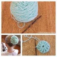 Fitzbirch Crafts Crochet Ballet Bun Cover