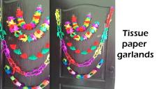 Five Diy Tissue Paper Garland Party Decoration