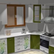 Flower Design Modular Kitchen