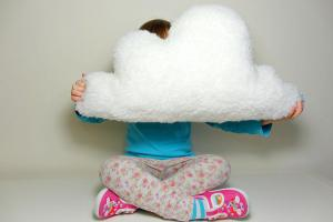 Fluffy Cloud Pillow Cushion White Faux Sheepskin