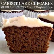 Fluffy Grain Carrot Cake Cupcakes Homemade Cream