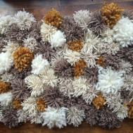Fluffy Shag Rug Pom Decorative Rag
