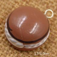 Food Charm Pendant Resin Handmade Diy Donut Bread Cake