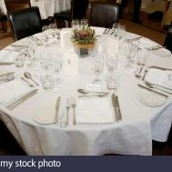 Formal Table Setting Lunch Angel Hotel During