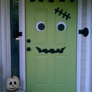 Frankendoor Halloween Decal Get Spooky Diy Decor
