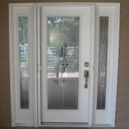 Front Doors Chic Glass Door Insert Leaded